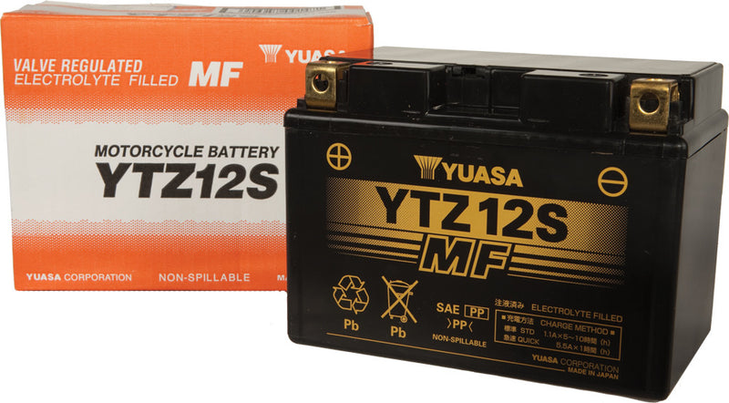 BATTERY YTZ12S SEALED FACTORY ACTIVATED