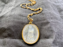 Load image into Gallery viewer, Oval Our Lady of Guadalupe Carved Shell Necklace