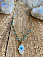 Load image into Gallery viewer, Evil Eye Rosary Chain Necklace