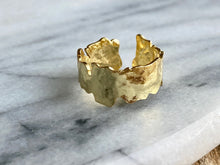 Load image into Gallery viewer, Gold Leaf Stacking Ring