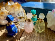 Load image into Gallery viewer, Crystal Bottle Essential Oil Diffuser Necklaces