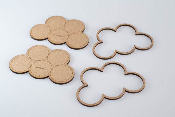 "MDF ""Clouds"" 5x32mm Movement Tray"