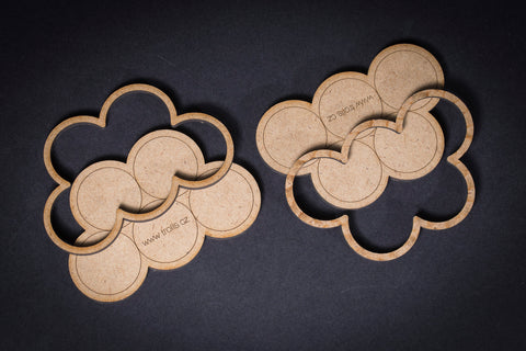 "MDF ""Clouds"" 5x25mm Movement Tray"