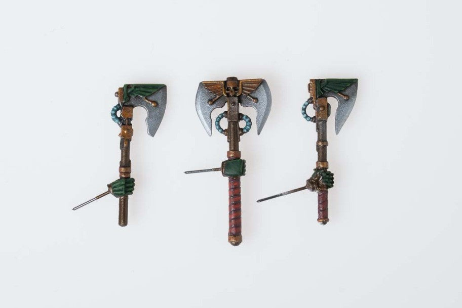 Power Axes with Armored Hand