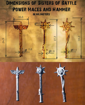 Power Maces with Gauntlet