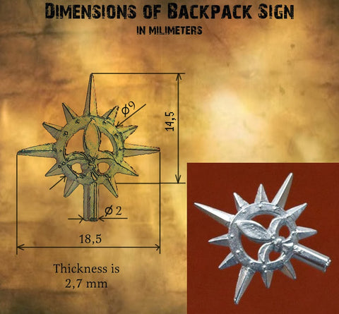 Sisters of Battle Backpack Sign