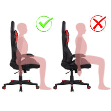Gaming Chair Ergonomic Racing Office Chair High Back PU Leather Computer Desk Chair Red