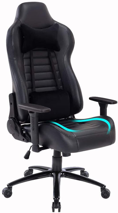 Gaming Chair with Massage Lumbar Support,Metal Base and 3D Aluminum Alloy Armrest Racing PC Computer Video Game Chair