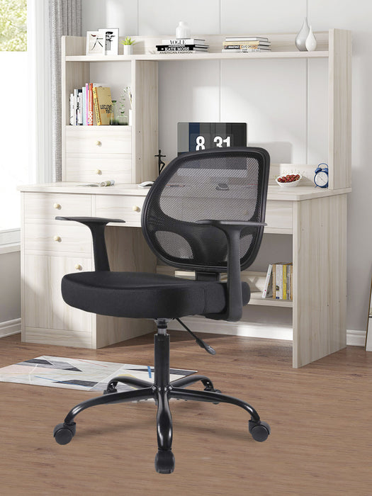 Office Mid-Back Desk Chair Task Chair with Armrests - Mesh Back, Swivel Chair