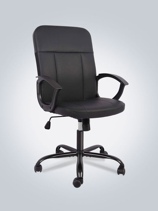 Ergonomic Executive Office Mid Back Leather Chair