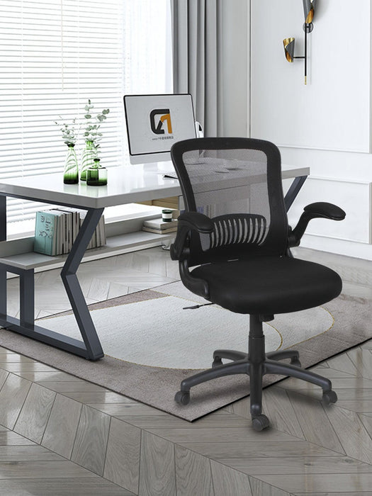 Tilt Mid-Back Mesh Chair, Supports up to 275 lbs Black