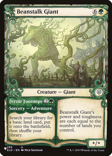 Beanstalk Giant // Fertile Footsteps [PLIST][Foil][Showcase]