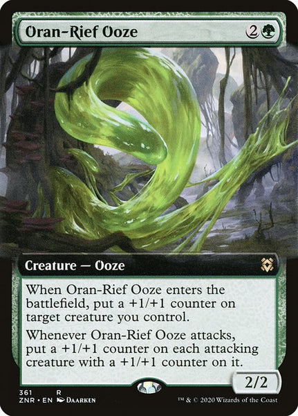 Oran-Rief Ooze [ZNR] [Extended Art]