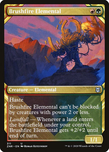 Brushfire Elemental [ZNR][Showcase]