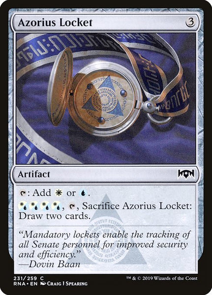Azorius Locket [RNA][Foil]