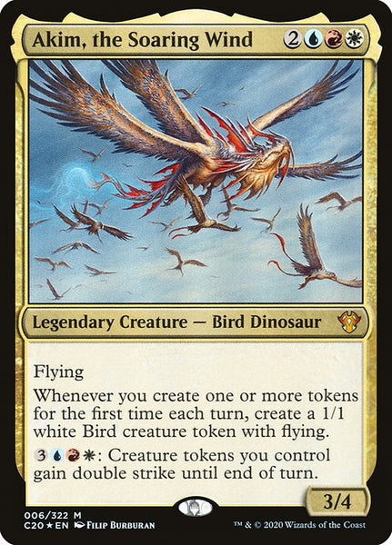 Akim, the Soaring Wind [C20][Foil]