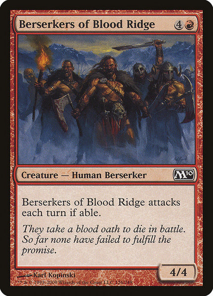 Berserkers of Blood Ridge [M10][Foil]