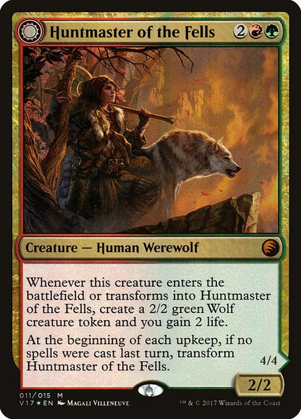 Huntmaster of the Fells // Ravager of the Fells [V17][Foil]