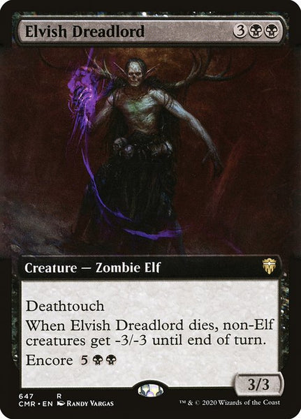 Elvish Dreadlord [CMR][Extended Art]