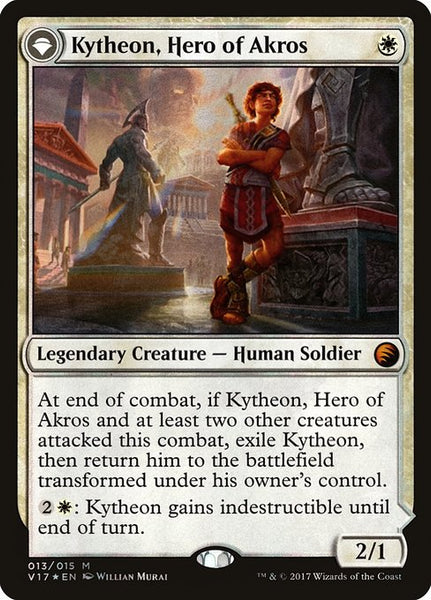 Kytheon, Hero of Akros // Gideon, Battle-Forged [V17][Foil]