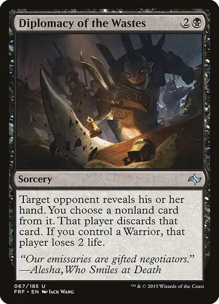 Diplomacy of the Wastes [FRF]