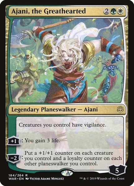 Ajani, the Greathearted [WAR][Foil]