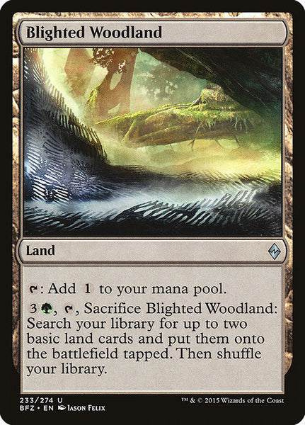 Blighted Woodland [BFZ][Foil]