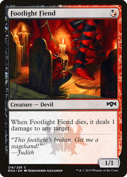 Footlight Fiend [RNA]