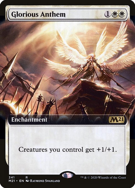 Glorious Anthem [M21][Foil][Extended Art]
