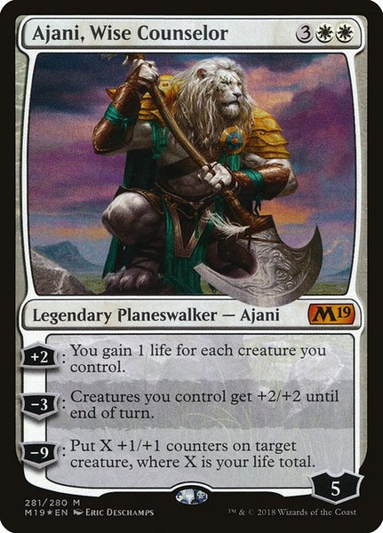 Ajani, Wise Counselor [M19][Foil]