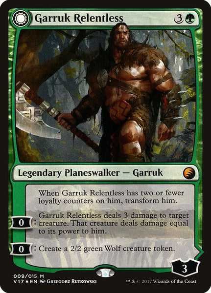 Garruk Relentless // Garruk, the Veil-Cursed [V17][Foil]
