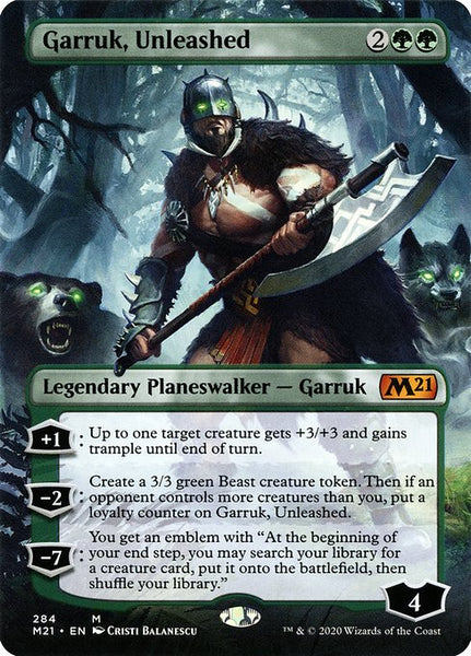 Garruk, Unleashed [M21][Borderless]