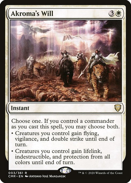 Akroma's Will [CMR][Foil]