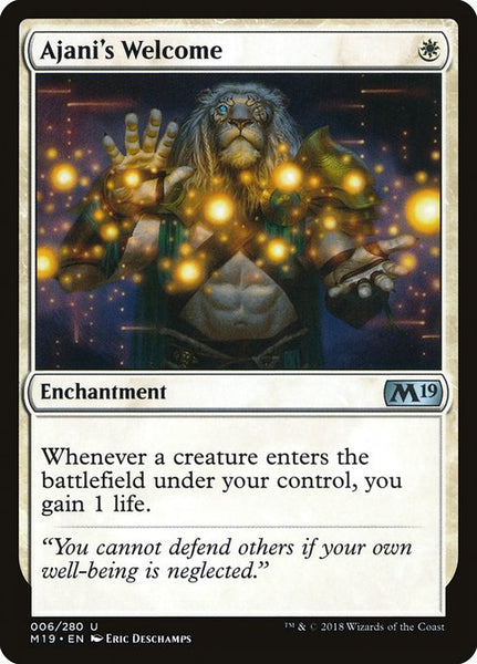 Ajani's Welcome [M19][Foil]