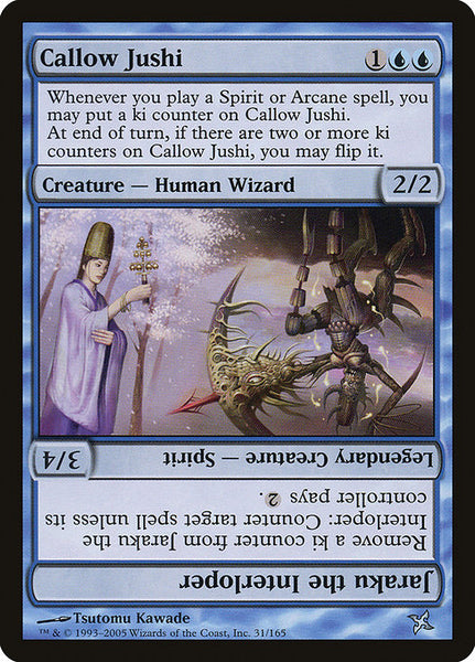 Callow Jushi // Jaraku the Interloper [BOK][Foil]