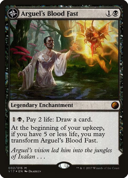 Arguel's Blood Fast // Temple of Aclazotz [V17][Foil]