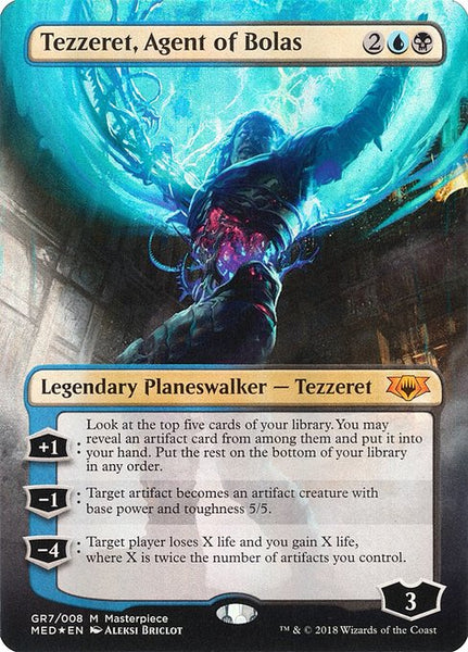 Tezzeret, Agent of Bolas [MED][Foil] [Borderless]