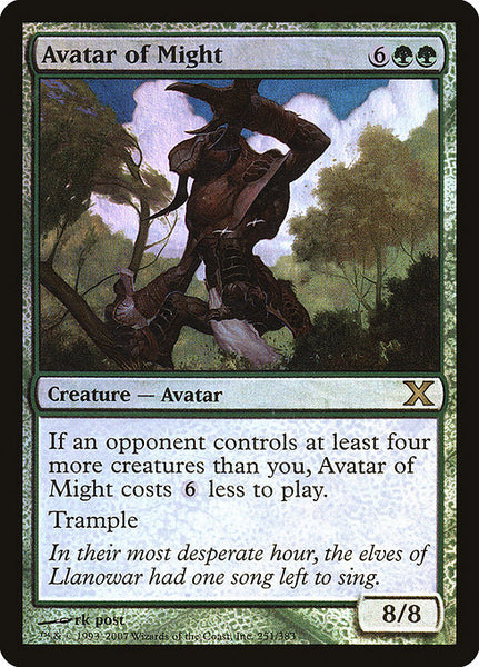 Avatar of Might [10E][Foil]