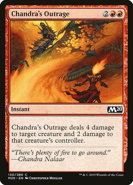 Chandra's Outrage [M20][Foil]