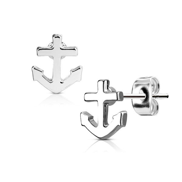 316L Surgical Steel Tiny Anchor Earring Studs