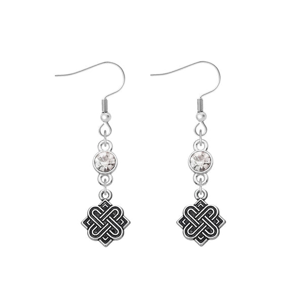 Tibetan Symbol Earrings