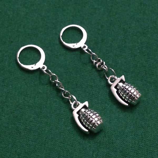 Hand Grenade Earrings