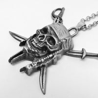 Pirates of The Caribbean Skull Cross Swords Pendant Necklace