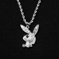 Iced Out Playboy Bunny Necklace