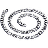 19 Inch Stainless Steel Curb Link Chain Necklace - 7mm width