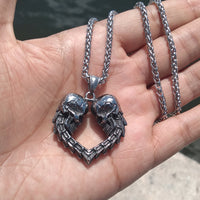 Endless Love Necklace - Skull Heart Pendant