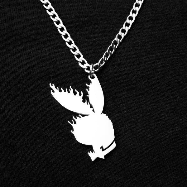 Flaming Bunny Necklace