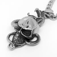 Snake Skull Pendant Necklace