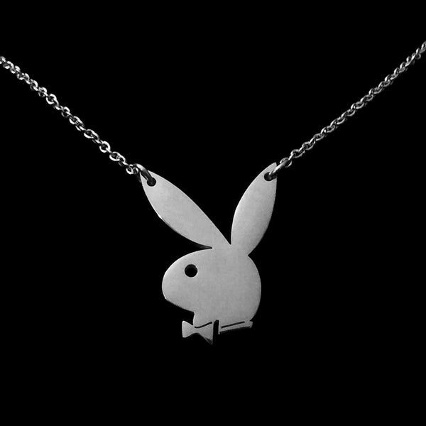 Playboy Bunny Charm Necklace