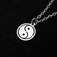 Yin and Yang Necklace and Earrings